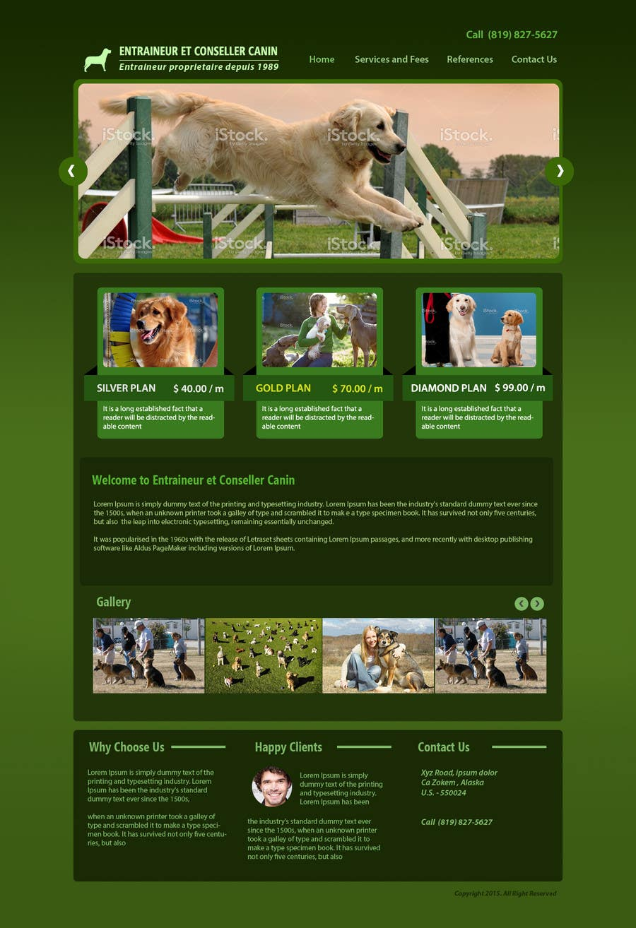 Penyertaan Peraduan #16 untuk Urgent design for Dog trainer website