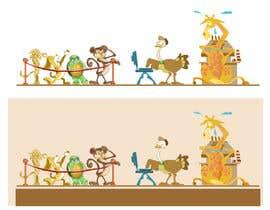 #23 untuk Cartoon animals queuing in a coffee shop oleh lakbaystudios