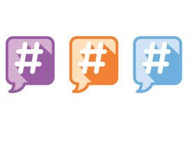 #36 untuk Design a chat bubble that look like a hashtag oleh rebeckanova