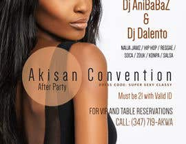 #61 untuk Design a Flyer for AKISAN Convention after-party oleh abutt1974