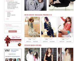 nº 49 pour Website Design for VIVI Clothes par dragnoir