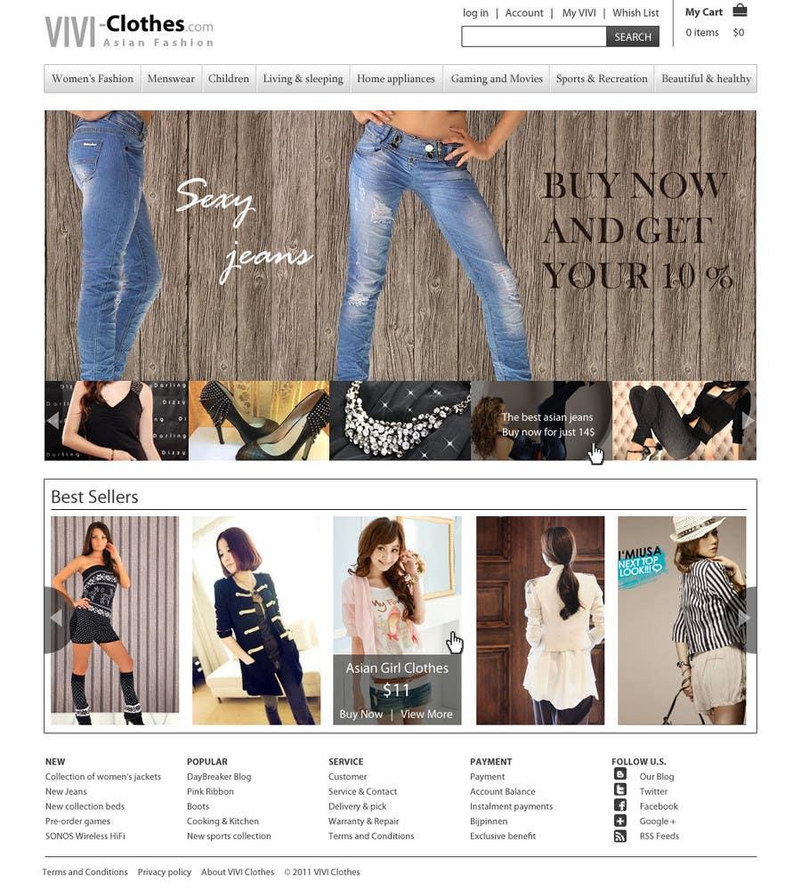 #6 for Website Design for VIVI Clothes by dragnoir