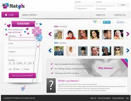 jasminkamitrovic tarafından Graphic Design for a dating website homepage için no 16