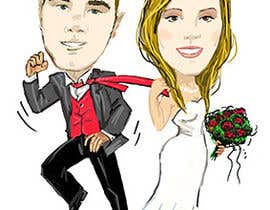 #35 para Cartoon wedding couple por antoanetabg