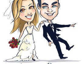 #37 para Cartoon wedding couple por skim3