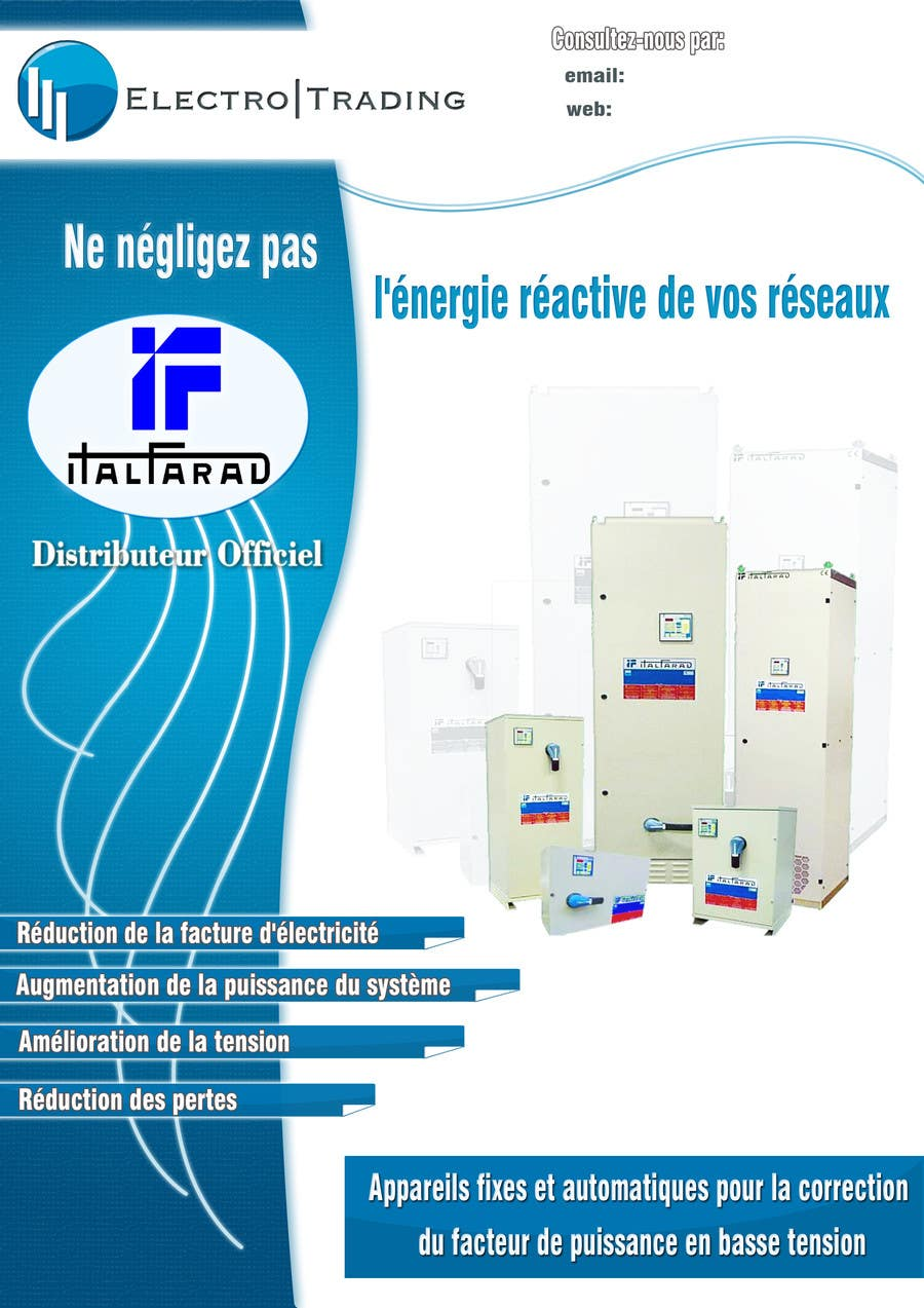 #21 for Concevez un flyer for ELECTRO TRADING - ITALFARAD by nerburish