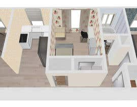 #6 para Create a 3d floor plan of 2 bedroom apt por REngine