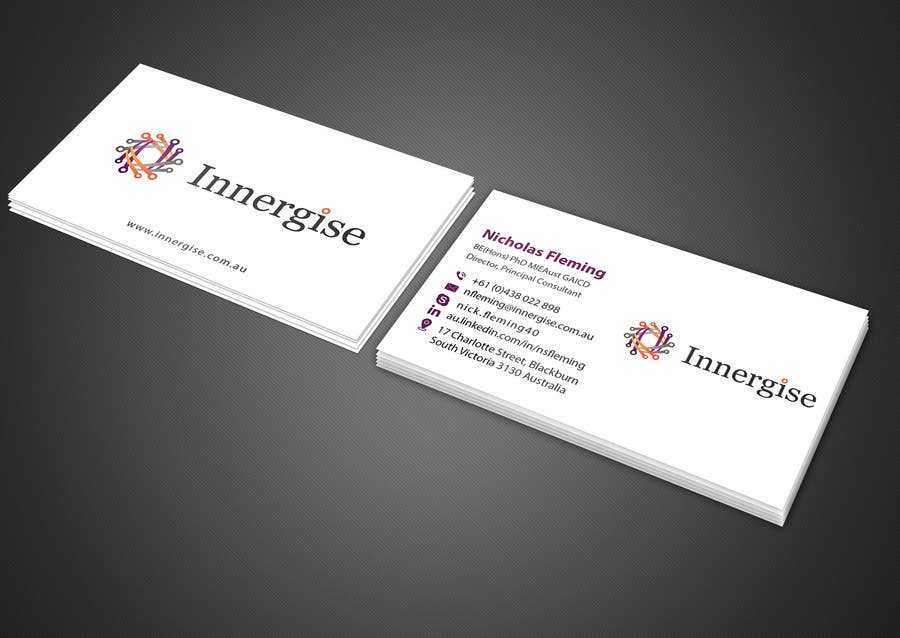 Entry 238 by imtiazmahmud80 for design business cards for contest entry 238 for design business cards for innergise reheart Choice Image