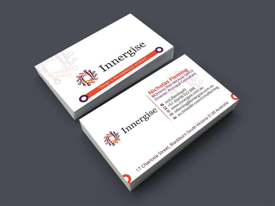 Entry 89 by nazmulhassan2321 for design business cards for contest entry 89 for design business cards for innergise reheart Choice Image