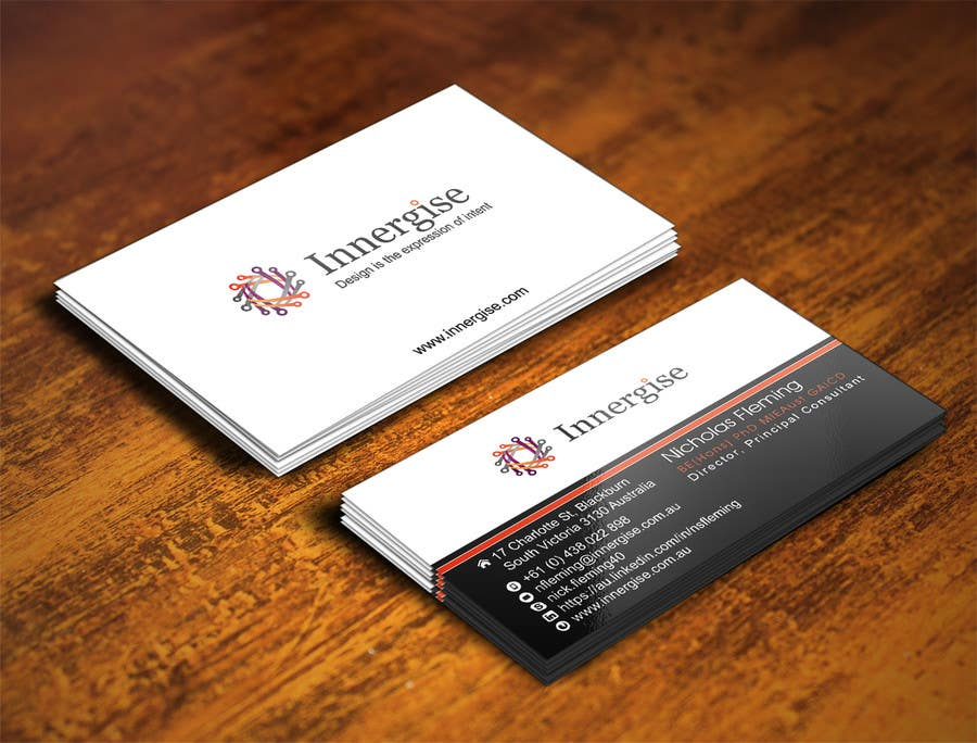 Entry 35 by illusiong for design business cards for innergise contest entry 35 for design business cards for innergise reheart Choice Image