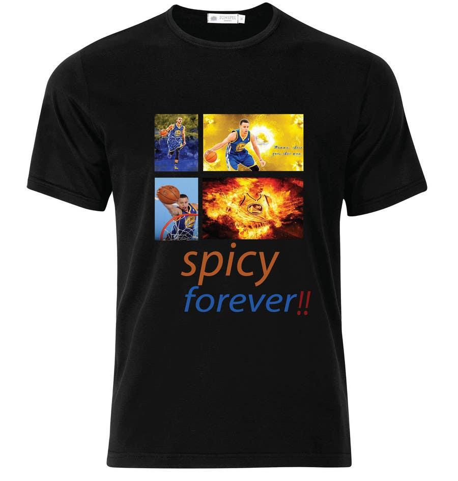 Penyertaan Peraduan #8 untuk Stephen Curry NBA/Spice for making food creative design