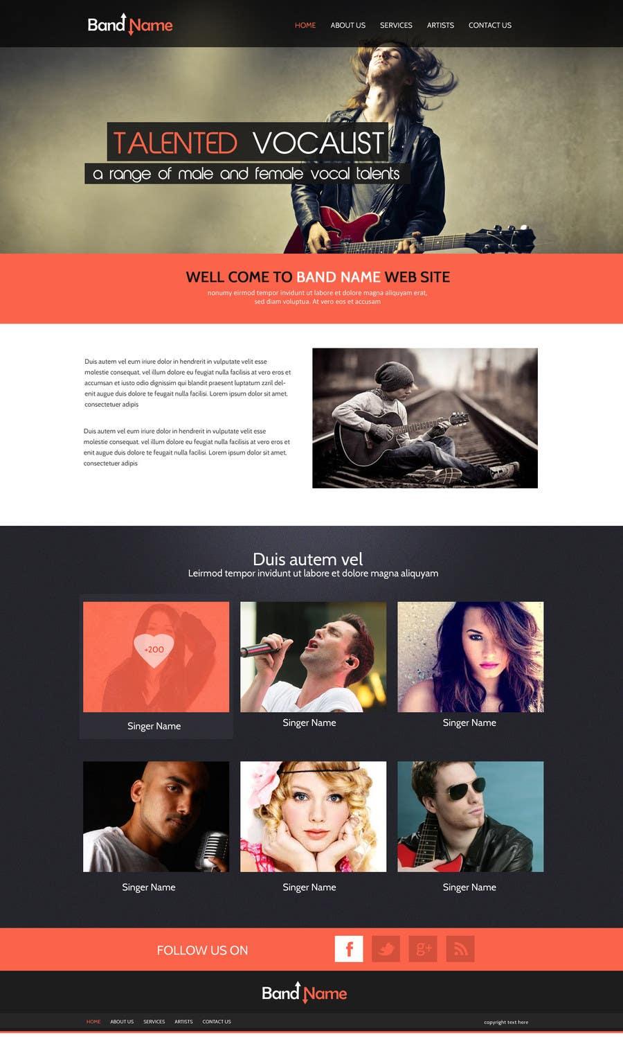 Bài tham dự cuộc thi #                                        1                                      cho                                         Design a Website for Music Band introduction site