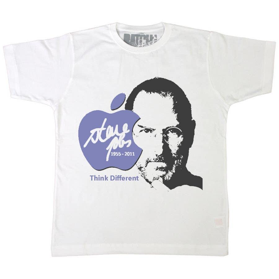 Penyertaan Peraduan #                                        75                                      untuk                                         T-shirt Design for IndoPotLuck - Steve Jobs Tribute
