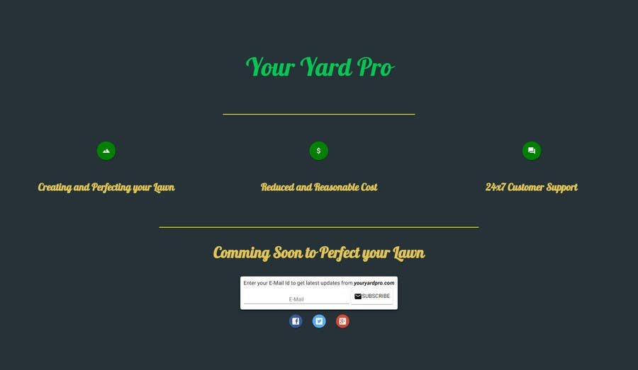Entry #10 by jenishngl for Build a Website for Lawn Service