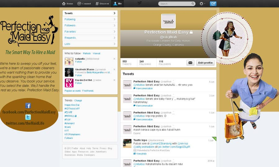 #13 for Design a Twitter background for Company by juntenx