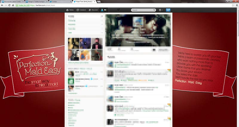 #1 for Design a Twitter background for Company by dnck