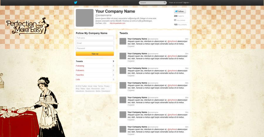 #3 for Design a Twitter background for Company by amiho910