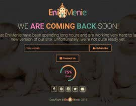 "#23 untuk Build a ""Coming Soon Website"" for my Baby Producct Brand oleh tastan"