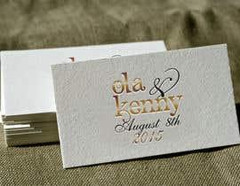 Nro 23 kilpailuun Design a Logo for wedding souvenir käyttäjältä anatomicana