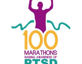 #58 untuk Design a Logo for 100 Marathons for Post Traumatic Stress Disorder oleh edwindaboin