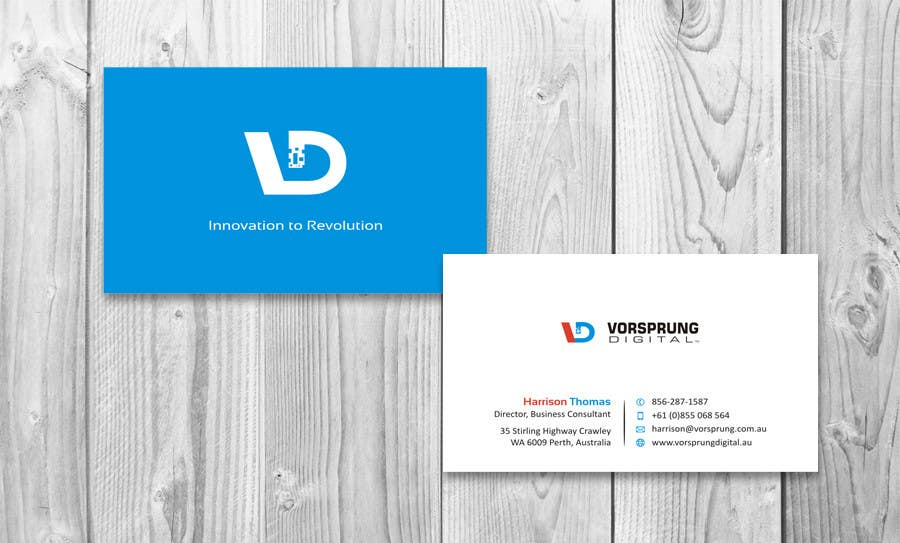 Entry #52 by sami24x7 for Design some Business Cards for Australian ...