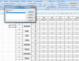 #23 for Do some Excel Work for Workers Schedule af sergpooh