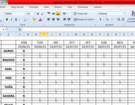 #21 for Do some Excel Work for Workers Schedule af thanhphu282