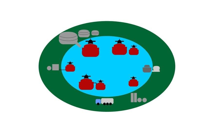 Penyertaan Peraduan #8 untuk Illustrate Something for maritime logistics for LNG