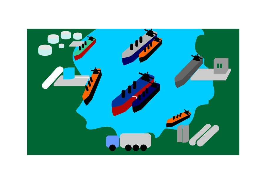 Penyertaan Peraduan #10 untuk Illustrate Something for maritime logistics for LNG