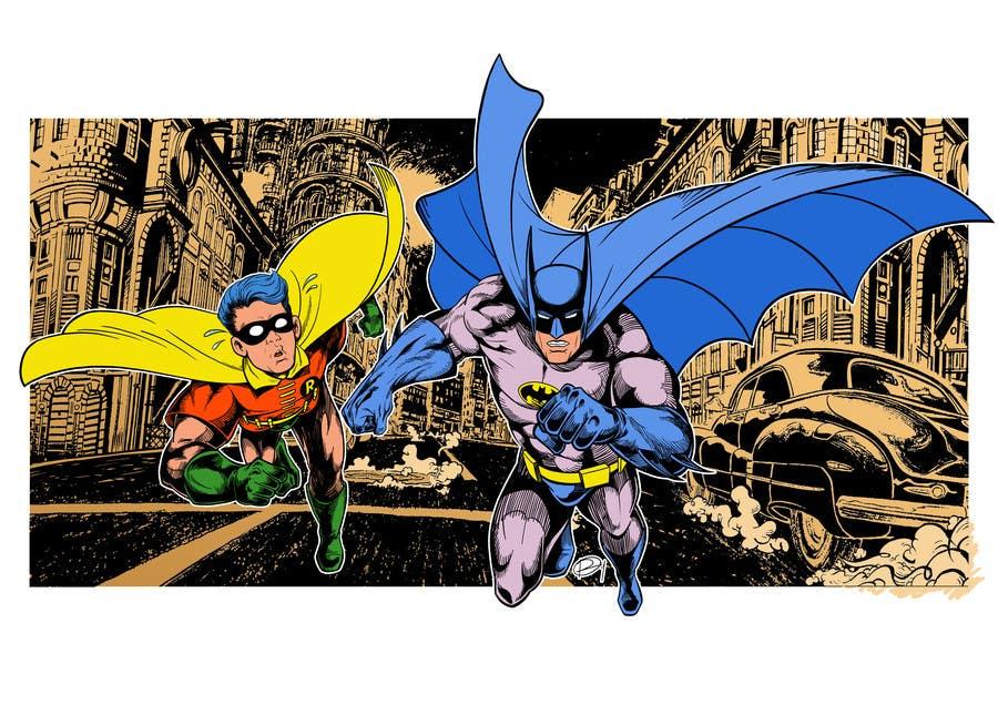 Kilpailutyö #23 kilpailussa 1960,s style Batman and Robin cartoon
