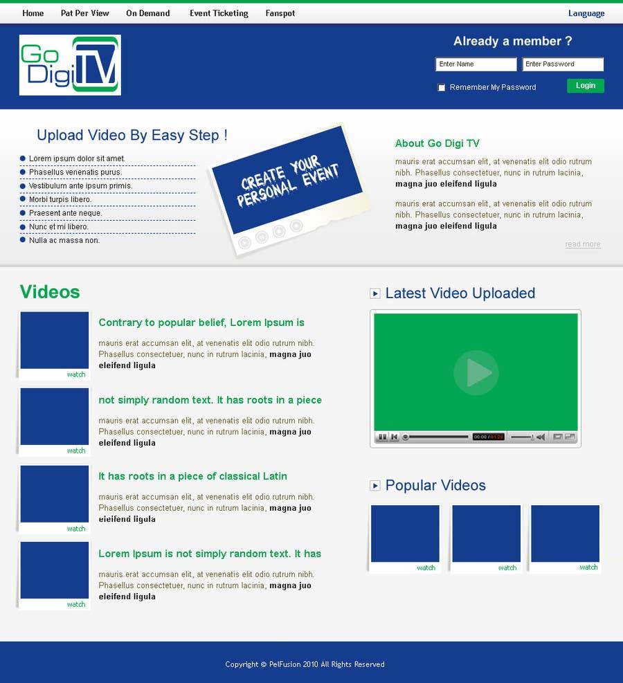 Proposition n°17 du concours Design a Website Mockup for GoDiGiTV