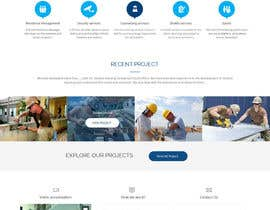 #18 untuk Design a Website Mockup for a construction company oleh syrwebdevelopmen