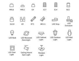 PavelMors tarafından Design some Icons for Different Lighting Types için no 7