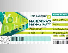 #6 untuk Design a Birthday invitation like a plane boarding card oleh OwlDoit