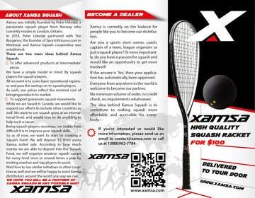 #5 untuk Xamsa Squash Brochure Design oleh yaris196