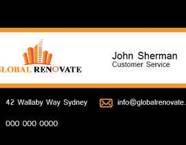 #3 untuk Design some Business Cards for Global Renovate oleh brissiaboyd