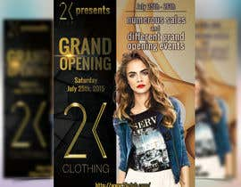 #56 for Design a Flyer for grand opening of clothing store af boris03borisov07
