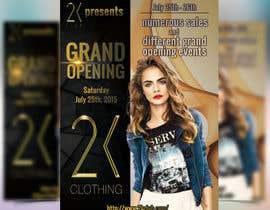 #56 cho Design a Flyer for grand opening of clothing store bởi boris03borisov07