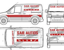 #38 para Vehicle Graphics  Van Signage designs por rzndra01