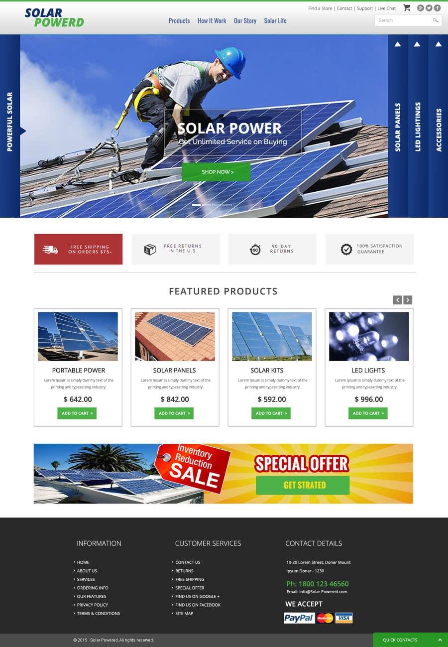 Konkurrenceindlæg #8 for Design a Website Mockup for Solar Powered Products