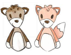 #30 untuk Illustrate Something for Plush Toy set - fox and fawn oleh chloewatx