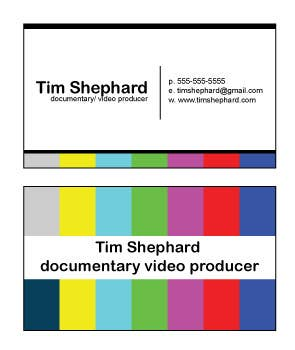 Contest Entry #                                        27                                      for                                         Business Card Design for Tim Shephard
