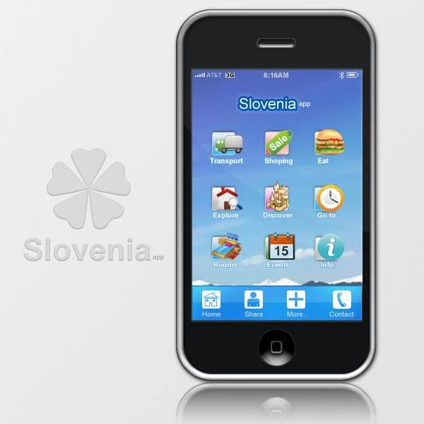 Contest Entry #7 for main menu UI design for mobile travel guide app