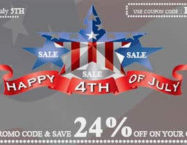 #11 for Design a Banner for 4th of july by bhanuudhay
