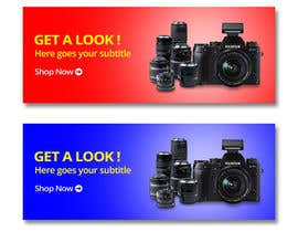 #18 for Design a Banner for ChimpDirect.com (Cameras) af virgil2yh
