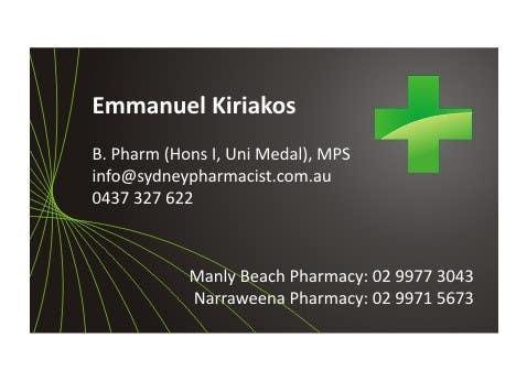 Penyertaan Peraduan #5 untuk Business Card Design for retail pharmacist based in Sydney, Australia