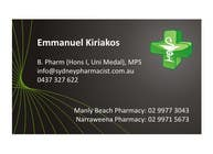 Graphic Design Entri Peraduan #91 for Business Card Design for retail pharmacist based in Sydney, Australia