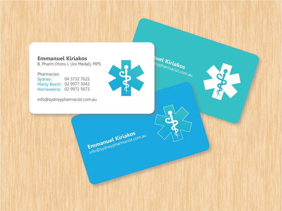 Entry #55 by kandre for Business Card Design for retail pharmacist ...