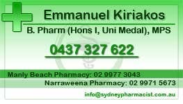 Penyertaan Peraduan #23 untuk Business Card Design for retail pharmacist based in Sydney, Australia