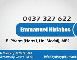 #142 dla Business Card Design for retail pharmacist based in Sydney, Australia przez daviddesignerpro